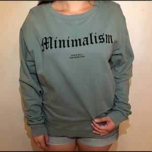 H&M olive green long sleeve tee